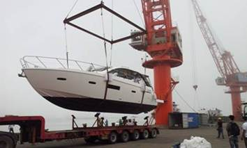 Yacht grounding and delivery